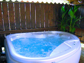 cottage in eureka springs with outdoor hot tub